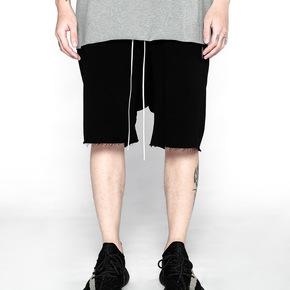JOESPIRIT 高品质棉感 抽绳腰部拼接短裤1128