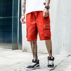 GZKHCOM 口袋街头立体多袋休闲 夏季直筒街头工装短裤