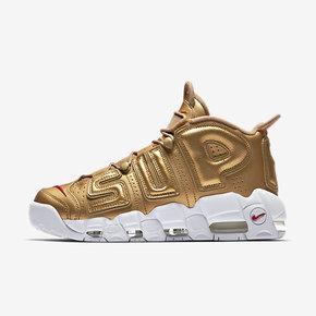 Nike耐克大Air More Uptempo Supreme联名金色篮球鞋902290-700