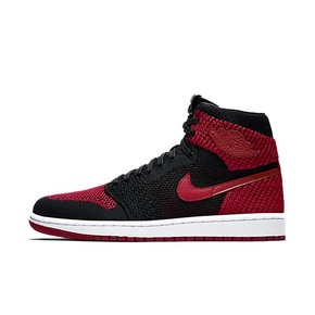 "Air Jordan 1 Flyknit ""Banned""  AJ1乔1黑红 919704-001"