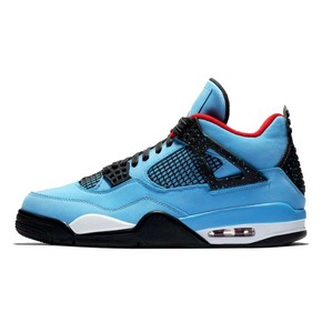 Air Jordan 4 x Travis Scott AJ4蓝麂皮联名 308497-406