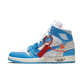 Air Jordan 1 x OFF-WHITE AJ1 联名 北卡蓝 AQ0818-148(2018.6.23发售)