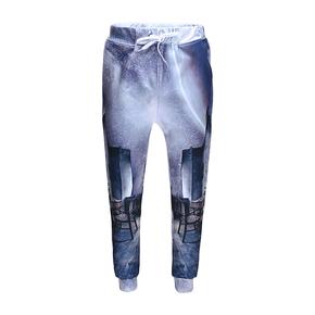 JOESPIRIT 趣味玩夏 弹力抽绳 欧美印花锥形休闲裤 Starry Munich k8713