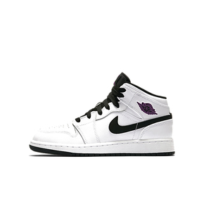 Air Jordan 1 GS AJ1 白黑紫葡萄 阴阳 奥利奥 女鞋555112-138