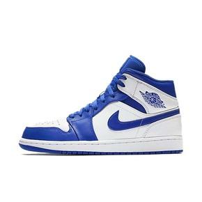 Air Jordan 1 MID AJ1小闪电白蓝中帮篮球鞋554724-114