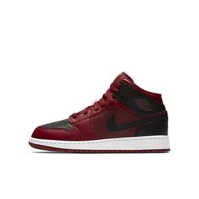 Air Jordan 1 Mid AJ1 GS小禁穿反转黑红篮球鞋554725-601