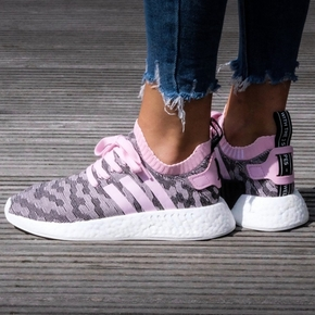 Adidas NMD R2 PK 灰粉 BY9521
