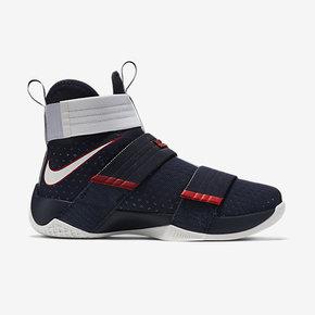 六折狂欢720元!Nike LeBron Soldier 10 美国队配色 844375-416