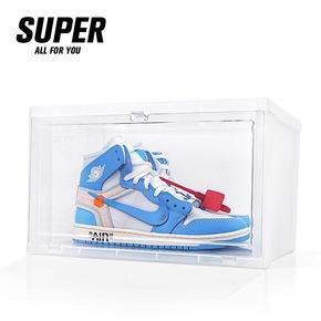 SUPER速啪 透明球鞋鞋盒AJ收藏防潮展示盒抗菌防尘鞋架鞋柜收纳盒