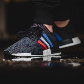 "Adidas NMD  R1 ""Tri-Color"" 黑色法国 BB2887"