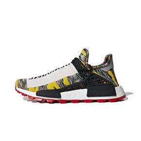 "Pharrell x adidas NMD Hu ""Solar Pack"" 菲董联名跑鞋 黑黄 BB9527"