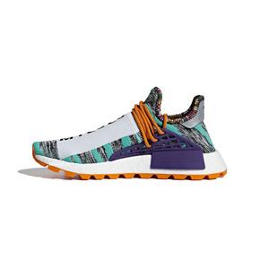 "Pharrell x adidas NMD Hu ""Solar Pack"" 菲董联名跑鞋 蓝紫BB9528"