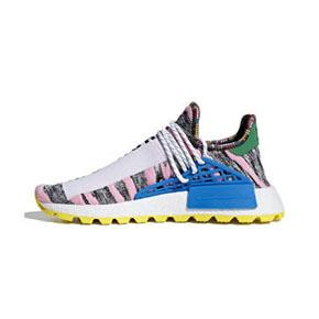 "Pharrell x adidas NMD Hu ""Solar Pack""菲董联名跑鞋 蓝粉BB9531"
