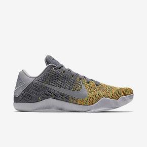 六折狂欢949元!Nike Kobe 11 Elite Low冷灰黄配色 822675-037