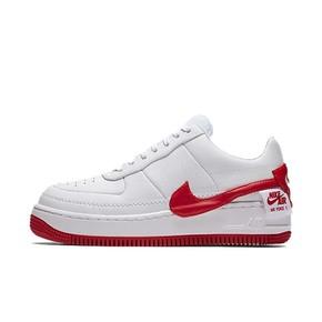 Nike Air Force 1 JESTER 白红变革歪勾板鞋
