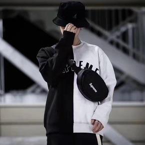 Supreme split拼接卫衣