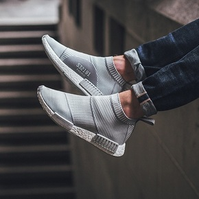 Adidas NMD City Sock PK 条纹灰白  S32191