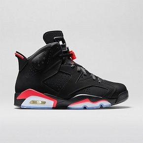 "断码特惠!Air Jordan 6 ""Black Infrared""黑红384664-023"