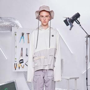 CATSSTAC 18FW 国潮嘻哈个性连帽衫宽松套头实验室卫衣