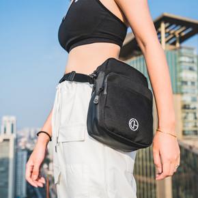 GZKHCOM暗黑潮酷单肩包防水拉链小包挂包手机包原创设计迷你胸包 A81045