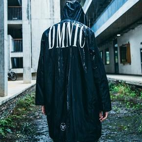 DMNIC 春秋季防水连帽暗黑中长款风衣男薄款大码外套街头潮牌