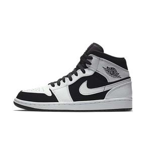 Air Jordan 1 Mid AJ1中帮 黑白熊猫 篮球鞋 554724-113(2018.9.5发售)