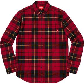 Supreme tartan 长袖衬衫