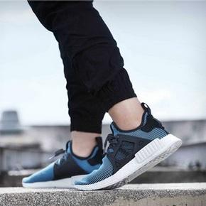 451/3一双秒价!Adidas Originals  NMD XR1  PK 黑蓝条纹 S32212