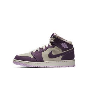 Air Jordan 1 MID GS AJ1 波爾多 女神粉紫