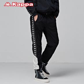 KAPPA卡帕BANDA男款运动小脚长裤K0852AY65M-990-596
