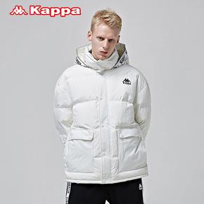 KAPPA卡帕2018冬新款男子防寒连帽短款羽绒服 K0852YY53D-012-990