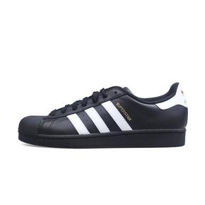 Adidas 三叶草Superstar贝壳头板鞋 金标 黑白 B27140