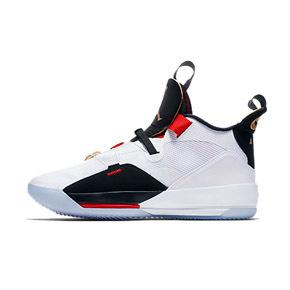 AIR JORDAN XXXIII 男籃球鞋 AJ33喬33代黑白紅