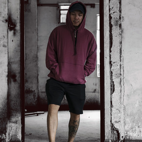 NOT TO EXCEED 2018AW 秋冬全棉做旧抽绳连帽卫衣