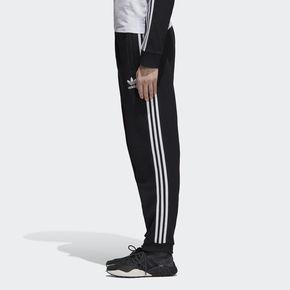 Adidas/三叶草3-STRIPES流行舒适百搭黑男子运动长裤DH5801