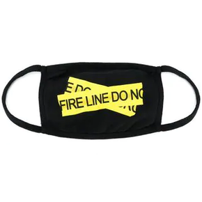 Off-White 18ss黑色警戒线口罩