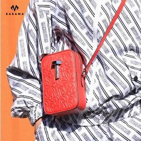 Babama2018新款手机包男士潮牌斜挎包休闲迷你小包单肩包女男包