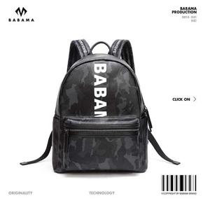 Babama街头欧美书包潮牌迷彩个性双肩包男背包潮流时尚旅行包