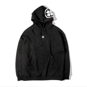 NL23HOOD Headdress 头花连帽卫衣 纯黑纯白黑白帽衫 美式街头