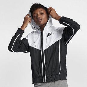 Nike耐克女上衣2018秋新款风行者防风透气梭织夹克外套883496-011