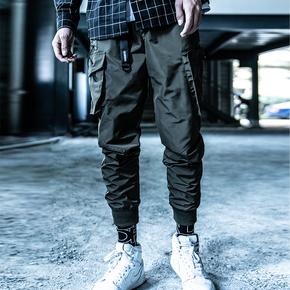 Killwinner 18aw口袋束脚裤双色