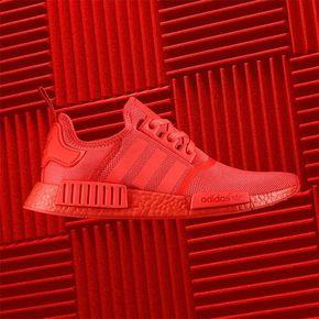 Adidas NMD R1 纯红 S31507