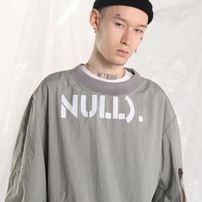 【2GUNS】潮牌个性套头圆领无帽MA1卫衣男女情侣嘻哈外套