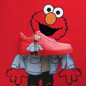 【球鞋定制】Nike AF1 Air Force 1 芝麻街系列2.0定制球鞋 红色