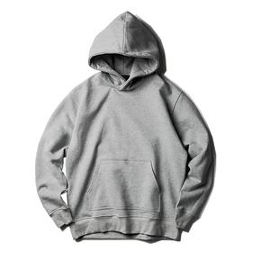 NL23HOOD 刺绣连帽卫衣 自主原创 浅灰色帽衫 Oversize