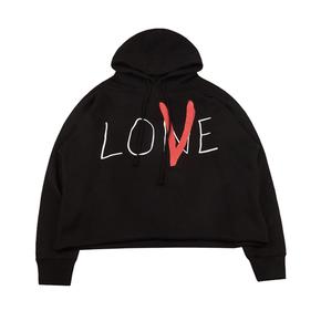 """Vlone """"Love""""草写喷绘帽衫 黑色"""