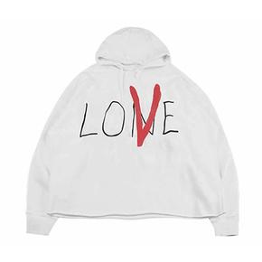 """Vlone """"Love""""草写喷绘帽衫 白色"""