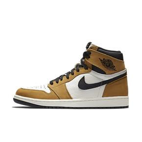 香港直邮特惠!Air Jordan 1 AJ1新秀  黑棕脚趾 黄麂皮 篮球鞋