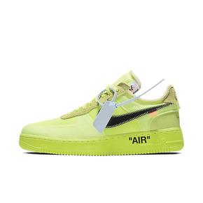 Nike Air Force 1 x OW联名 AF1荧光绿 AO4606-700(2018.12.19发售)