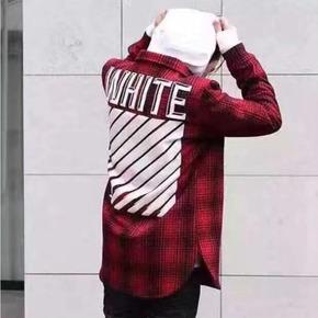 直降千元!Off-White 加厚款羊毛格子衬衫